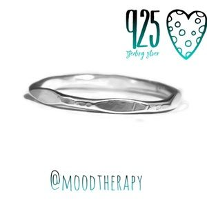 Moodtherapy Jewelry - Semi Faceted Textured Thick Band Ring